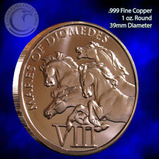 """Mares of Diomedes"" 1oz999 Copper Round 12 Labors of Hercules 12 Round Series #8"