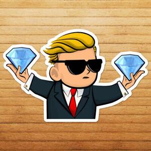 Diamond Hands WSB WallStreetBets Game Stonk Stock Market Wall Car Decal Sticker