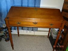 Beautiful Antique Sprague & Carleton Hardwood Maple Secretary Desk & Key Slent