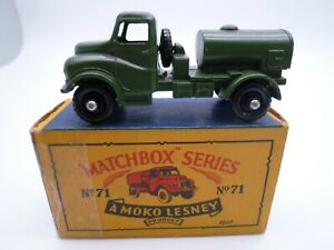 VINTAGE MATCHBOX LESNEY No.71a AUSTIN WATER TRUCK IN ORIGINAL BOX 1959