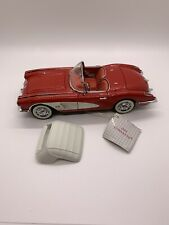 New ListingFranklin Mint 1959 Red Corvette Diecast 1:24 Nib W/ Paperwork & Box