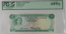 L.1965 Bahamas Government $1 Dollar Note SCWPM# 18b PCGS Very Fine VF 30 PPQ
