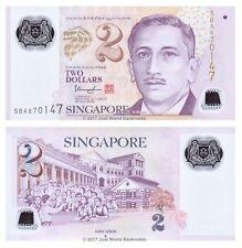 Singapore 2 Dollars 2005 (2013) Polymer P-46 Banknotes UNC