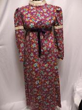 Vintage 1970's Prairie Dress Renaissance Boho Gypsy Long Handmade 1960's