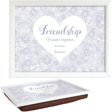 Said With Sentiment 7551 White Lap Tray Friendship