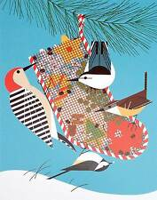 Charlie/Charley Harper - BACKYARD BIRDS - Cert of Auth - holiday bird art