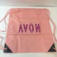"Avon Women's Pink Bling Backpack Drawstring Sak by Port & Company New 15 x 14"""