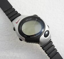 Nike Men's 250 Lap Watch Digital Black Rubber Strap Black