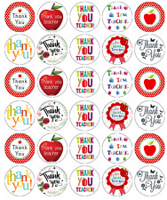 30 x Thank You Teacher Cupcake Toppers Edible Wafer Paper Fairy Cake Toppers