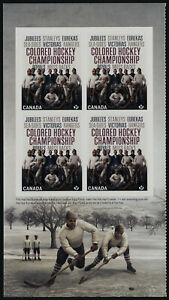Canada 3233a L Booklet Pane MNH Black History Month, Colored Hockey Championship