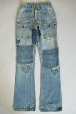 Vintage 70'S Bush Distressed Denim Jeans Pants W/ Patches Everywhere