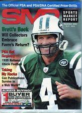 New listing DECEMBER 2008 BRETT FAVRE COVER SMR PSA SPORTS MARKET REPORT PRICE GUIDE  MINT