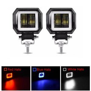 "3"" Inch LED Work Light Bar Spot Pods Halo Lamp Fog Driving OffRoad ATV 4WD Truck"