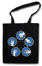 PAPER & ROCK BIG BANG BLACK THEORY Hipster Shopping Bag - Sheldon Lizard Spock