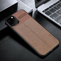 Shockproof Hybrid Leather TPU Phone Case Cover For Apple iPhone X 11 11 Pro Max