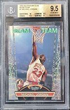 1992-1993 Topps Stadium Club BEAM TEAM Michael Jordan Card #1 BGS 9.5 GEM MINT💎