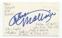 Christopher McNair Signed 3x5 Index Card Autographed Alabama Civil Rights Leader