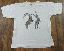 Vintage Ibex Goat Siberian Ibex Alpine Ibex Ivory Ss T Shirt Size Xl