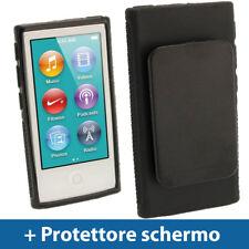 Nero Custodia TPU Gel per Nuovo Apple iPod Nano 7 Gen Generazione 7G Case Cover