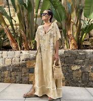 ZARA WOMAN SS20 CAMPAIGN LIMITED EDITION JACQUARD KAFTAN DRESS Size S BLOGGERS