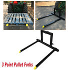 3 Point Pallet Forks Quick Hitch Category 1 Tractor Bucket Attachments Mover US