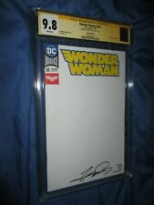 WONDER WOMAN #58 CGC 9.8 SS Signed Blank Variant by George Perez -- DC COMICS