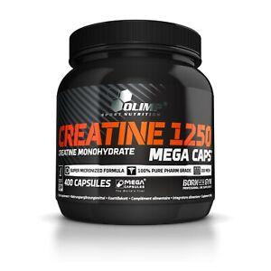 OLIMP Creatine Monohydrate 1250 Mega Caps 400 Capsules PURE MICRONIZED CREATINE