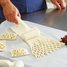 Plastic Baking Tool Cookie Pie Pizza Bread Pastry Lattice Roller Cutter Best NEW