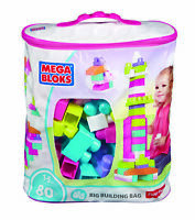 Mega Bloks First Builders Big Building Bag, 80-Piece (Pink) DCH62