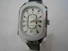 NOS NEW VINTAGE RENIS ST STEEL SWISS INCABLOC WATCH !!!