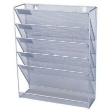 Wall Paper Holder Office Mesh Display Mounted Stand Organizer Letter Rack Pocket