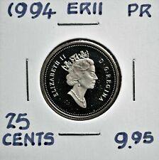 1994 Canada 25 cents Proof