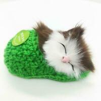 Cat Kitten Sleep Slipper Plush Doll Cute Stuffed Baby Gift Toys Kids O8K9