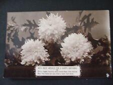 "Postcard. ""Happy Birthday"" Greetings. Posted 1911 to Oxford. Davidson Bros."