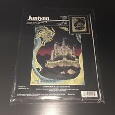 "NEW Janlynn Dragon Isle Counted Cross Stitch Kit #02-445 Sealed 1995 9"" x 13"""