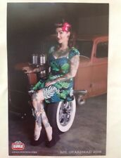Ms. Gearhead 2016 Pinup Girl Poster Custom Car Rockabilly Tattoo Betty Punk Rock