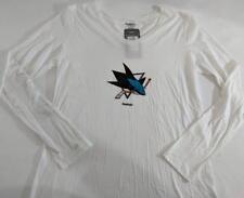 LZ Reebok Women's Maternity Medium San Jose Sharks NHL T-Shirt Tee Shirt NEW J65