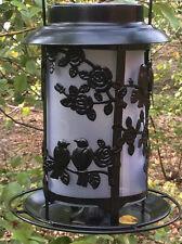 VINTAGE BIRD FEEDER HANGER WITH SOLAR POWERED DEL GARDEN BIRD TABLE STATION
