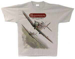 Supermarine Spitfire Mk V  Aviation T-shirt - Sand Colour