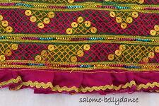 Kuchi Nomaden Stoff, Bestickter Stoff, Borte, Ethnostoff, Tribal Kostüm DIY