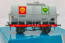 Dapol O Gauge 7F-058-010, 14Ton SWB 'Class A' Tanker Wagon 'Shell/BP' Dove grey