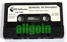 Cassetta Gioco COMMODORE CBM 64/128 MONDIAL '90 SIMULATION 1990 CTO