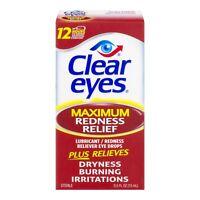Clear Eyes Maximale Rötung Relief Augentropfen, 0,5 FL OZ