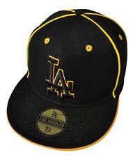 NEU LA Los Angeles Gold angepasst flachspitzen Baseballmütze 18.7cm