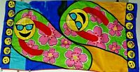 NORTHPOINT BEACH TOWEL Multicolor Emoji Flip Flops Floal Home Luxury Collection