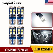 4x 6000K White T10 LED Bulbs CANbus Error Free Car Side Backup Reverse Light