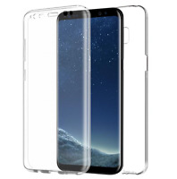 360 TPU Gel Case Front + Back Protector For Samsung Galaxy S6 S7 Edge S8 S9 Plus