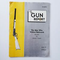 Vintage The Gun Report Magazine July 1963 Firearms Weapons