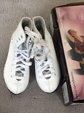New listing Ccm Classic Champion Deluxe Sp Series White Figure Skates Size 10 Euc