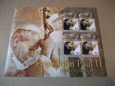 TUVALU  2005  POPE JOHN PAUL II &HRM QUEEN ELIZABETH II  SHEETLET